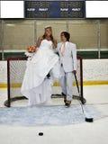 hokejowy romans fotografia stock
