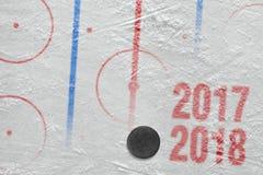 Hokejowy sezon 2017-2018 Zdjęcia Stock