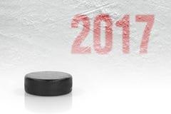 Hokejowy sezon w 2017 Fotografia Stock