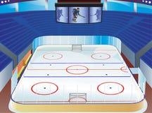 hokejowy stadium Obrazy Royalty Free