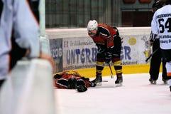 hokejowy uraz fotografia stock