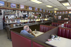 Hokes Cafe on old Lincoln Highway royalty free stock photo
