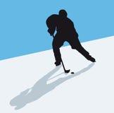 Hokey su ghiaccio Fotografia Stock Libera da Diritti
