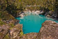 Hokitika klyfta på den södra ön av Nya Zeeland Royaltyfri Fotografi