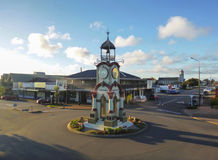 HOKITIKA, NEW ZEALAND - JULY 2014- Hokitika Clock Tower in Central business district. royalty free stock images