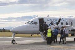 HOKITIKA NEWE LA ZÉLANDE 3 SEPTEMBRE : prepar plat d'Air New Zealand Images libres de droits