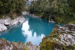 Hokitika River Gorge, scenic New Zealand Royalty Free Stock Image