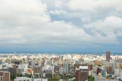 Hokkaido city. Bird eye view of Sapporo city in Hokkaido, Japan Stock Photo