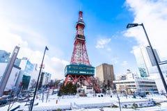 Hokkaido de Sapporo, Jap?o - 2 de fevereiro de 2019 constru??o bonita da arquitetura da tev? de Sapporo no Hokkaido Jap?o da cida imagens de stock