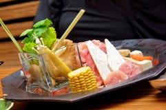 Hokkaido hot pot platter Royalty Free Stock Photography