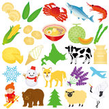 Hokkaido-Illustrationen. Lizenzfreie Stockfotografie