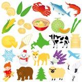 Hokkaido illustrations. Royalty Free Stock Photography