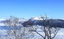 Hokkaido im Winter lizenzfreie stockbilder
