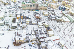 HOKKAIDO, JAPAN-JAN 31, 2016: A vista de Hakodate do sta Imagem de Stock