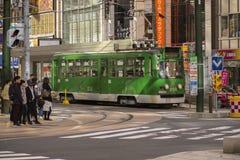 Hokkaido japan - octobor 8,2018 :  old model of supporo city str stock images