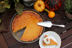 Hokkaido pumpkin pie Stock Photography