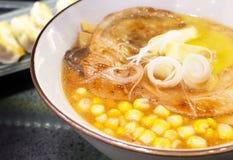 Hokkaido ramen. Closeup hokkaido noodle ramen, japan style stock images