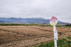 Hokkaido Road trip. Beautiful view along the road from Chitose Airport to Furano, a small town located in Hokkaido, Japan. Driving in Hokkaido is amazing, the Royalty Free Stock Photo