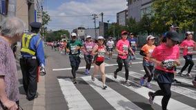 Hokkaido Sapporro Ιαπωνία 20η των δρομέων μαραθωνίου του Αυγούστου του 2017 από σε όλο τον κόσμο να συλλέξει στο διεθνές γεγονός Στοκ φωτογραφίες με δικαίωμα ελεύθερης χρήσης