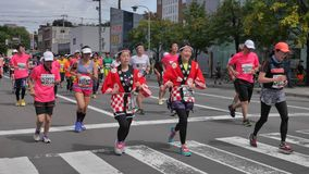 Hokkaido Sapporro Ιαπωνία 20η των δρομέων μαραθωνίου του Αυγούστου του 2017 από σε όλο τον κόσμο να συλλέξει στο διεθνές γεγονός Στοκ Φωτογραφίες