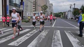 Hokkaido Sapporro Japão 20o dos corredores de maratona de agosto de 2017 do mundo inteiro que recolhem no evento internacional Imagens de Stock Royalty Free