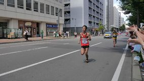 Hokkaido Sapporro Japão 20o dos corredores de maratona de agosto de 2017 do mundo inteiro que recolhem no evento internacional Imagem de Stock