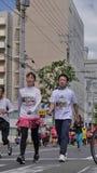 Hokkaido Sapporro Japón vigésimo de los corredores de maratón de agosto de 2017 de todas partes del mundo que recolecta en el eve Foto de archivo
