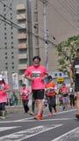 Hokkaido Sapporro Japón vigésimo de los corredores de maratón de agosto de 2017 de todas partes del mundo que recolecta en el eve Imágenes de archivo libres de regalías