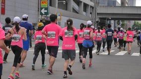 Hokkaido Sapporro Japón vigésimo de los corredores de maratón de agosto de 2017 de todas partes del mundo que recolecta en el eve Fotografía de archivo