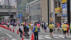 Hokkaido Sapporro Japón vigésimo de los corredores de maratón de agosto de 2017 de todas partes del mundo que recolecta en el eve Imagenes de archivo
