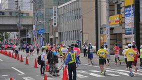 Hokkaido Sapporro Japan 20th of August 2017 Marathon Runners from all over the world gathering at the International event Stock Images