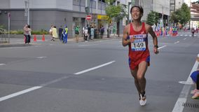 Hokkaido Sapporro Japan 20. von den vom August 2017-Marathon-Läufern aus der ganzen Welt, die am internationalen Ereignis erfasse Lizenzfreie Stockfotografie