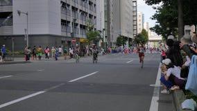 Hokkaido Sapporro Japan 20. von den vom August 2017-Marathon-Läufern aus der ganzen Welt, die am internationalen Ereignis erfasse Stockbilder