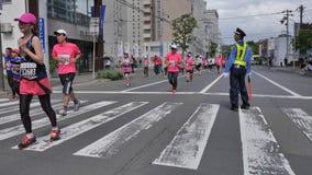 Hokkaido Sapporro Japan 20. von den vom August 2017-Marathon-Läufern aus der ganzen Welt, die am internationalen Ereignis erfasse Stockfotografie