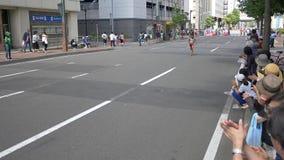 Hokkaido Sapporro Japonia 20th Sierpień 2017 Maratońscy biegacze po całym od światowego zgromadzenia przy Międzynarodowym wydarze zbiory wideo
