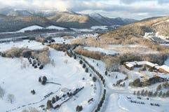 Hokkaido Ski Resort Stockbilder
