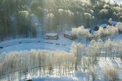 Hokkaido Ski Resort Stockfotos