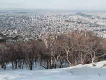 Hokkaido stadssikt Fotografering för Bildbyråer