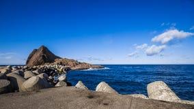 Hokkaido utoro harbor at Japan Royalty Free Stock Photography