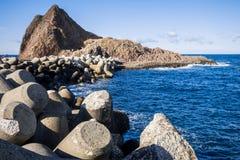Hokkaido utoro harbor at Japan Royalty Free Stock Images