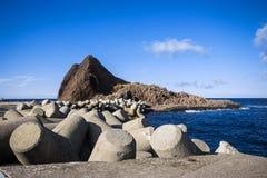 Hokkaido utorohamn på Japan Fotografering för Bildbyråer