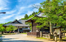 Hokke-do hall of Todai-ji temple in Nara Royalty Free Stock Images