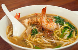 Hokkein Prawn Noodle Stock Photography