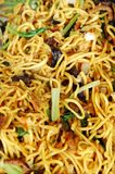 Hokkien noodles are round egg noodles Royalty Free Stock Photos