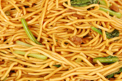 Hokkien noodles are round egg noodles Stock Photo