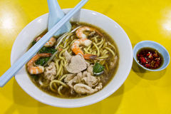 Hokkien Prawn Mee Soup Noodle Royalty Free Stock Photography