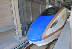 Hokuriku Sinkansen bullet train Japan Royalty Free Stock Photo