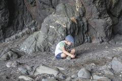 Hol in Ajuy in oostelijke Fuertaventura royalty-vrije stock fotografie