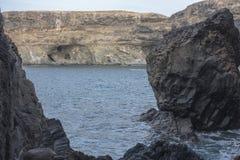 Hol in Ajuy in oostelijke Fuertaventura stock afbeelding