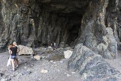 Hol in Ajuy in oostelijke Fuertaventura royalty-vrije stock foto's